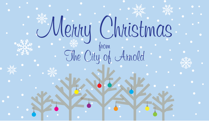 Merry Christmas from the City of Arnold Web banner